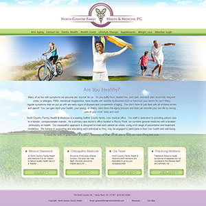 North Country Family Health Web Design by Zartwork Designs Inc.