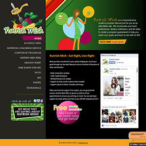Nutrish Mish Web Design