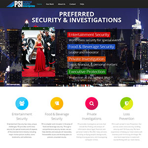 Preferred Security Investigations Web Design