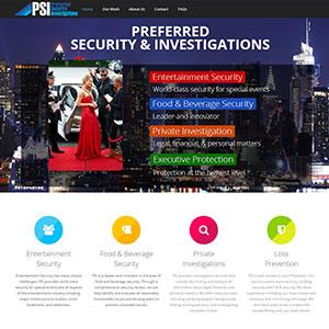 Preferred Security Investigations Web Design