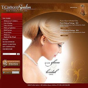 Tcarltons Spalon Web Design