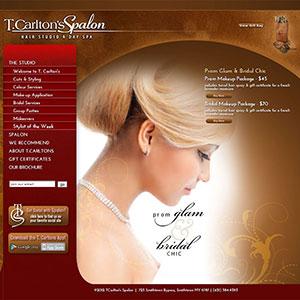 Tcarltons Spalon Web Design